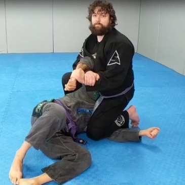 Crucifix side control trap with Kimura, in depth